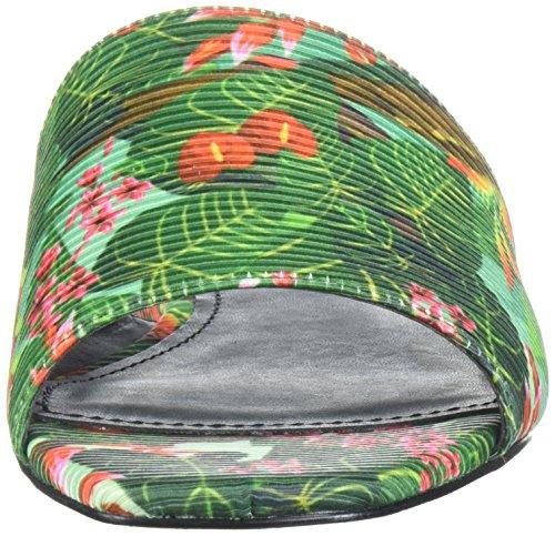 GUESS Womens Harieta Slide Sandal Green N7edXJLaR