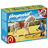 Playmobil Knabstrupper Horse with Trainer and Stable