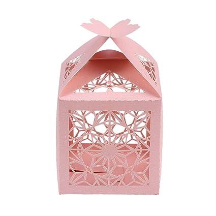 STOBOK Cajas de Caramelos de Papel Hueca con Mariposa para Bombones Dulce Chocolate Cajas de Regalo