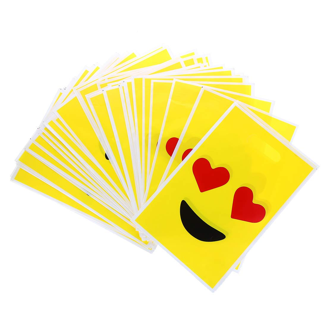 60 Pieces Emoji Party Favor Bags Great for Kids Birthday Parties and School Party 9.8 InchX6.5Inch