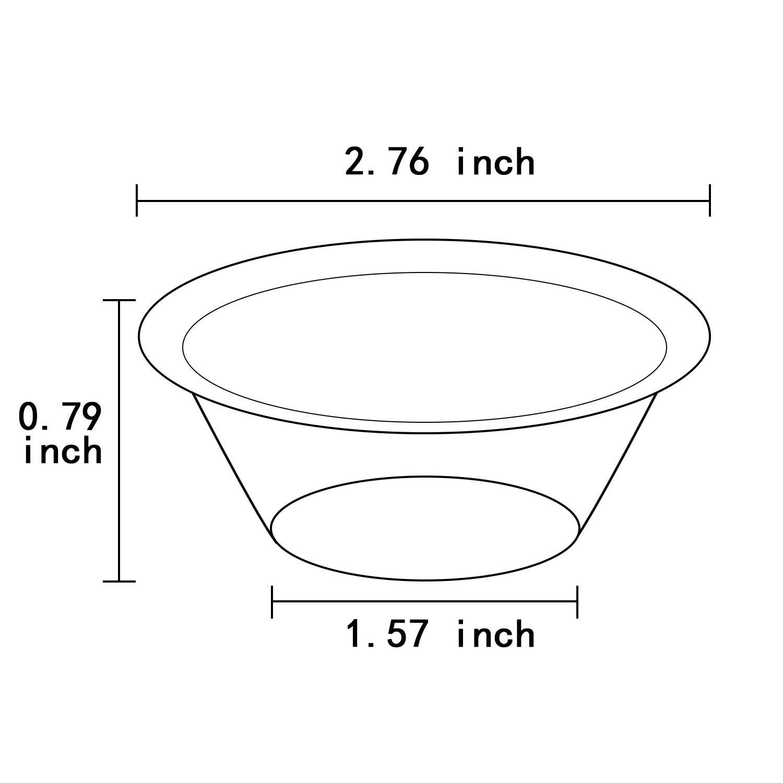 200 Piezas Moldes de Pastel de Aluminio Moldes Mini de Tarta Desechables Moldes de Aluminio Peque/ño Pastel Tarta para Suministros para Horneado Suministros