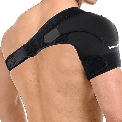 ipow Tutore spalla Supporto per spalla Fascia da spalla Leggero in Neoprene  e Chiusure a Velcro 022e486df06a