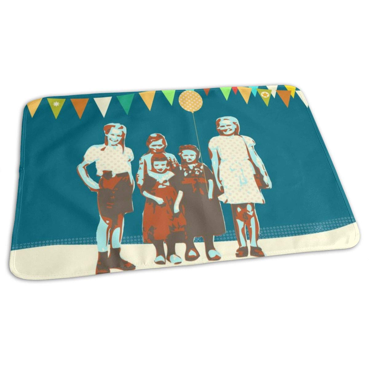 Time To Party Baby Portable Reusable Changing Pad Mat 19.7x27.5 inch