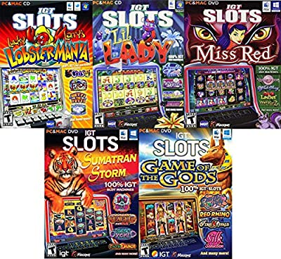 IGT Slots Mega Bundle 5 Pack (Lobstermania, Lil Lady, Miss Red, Sumatran Storm, Game of The Gods) PC & Mac