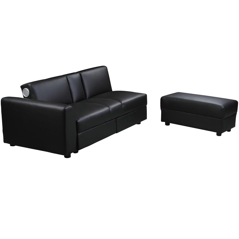 Wunderbar Sofa Sitztiefenverstellung Dekoration Von Kin Funktionssofa Mit Bluetooth Schwarz Schlafsofa Bettsofa