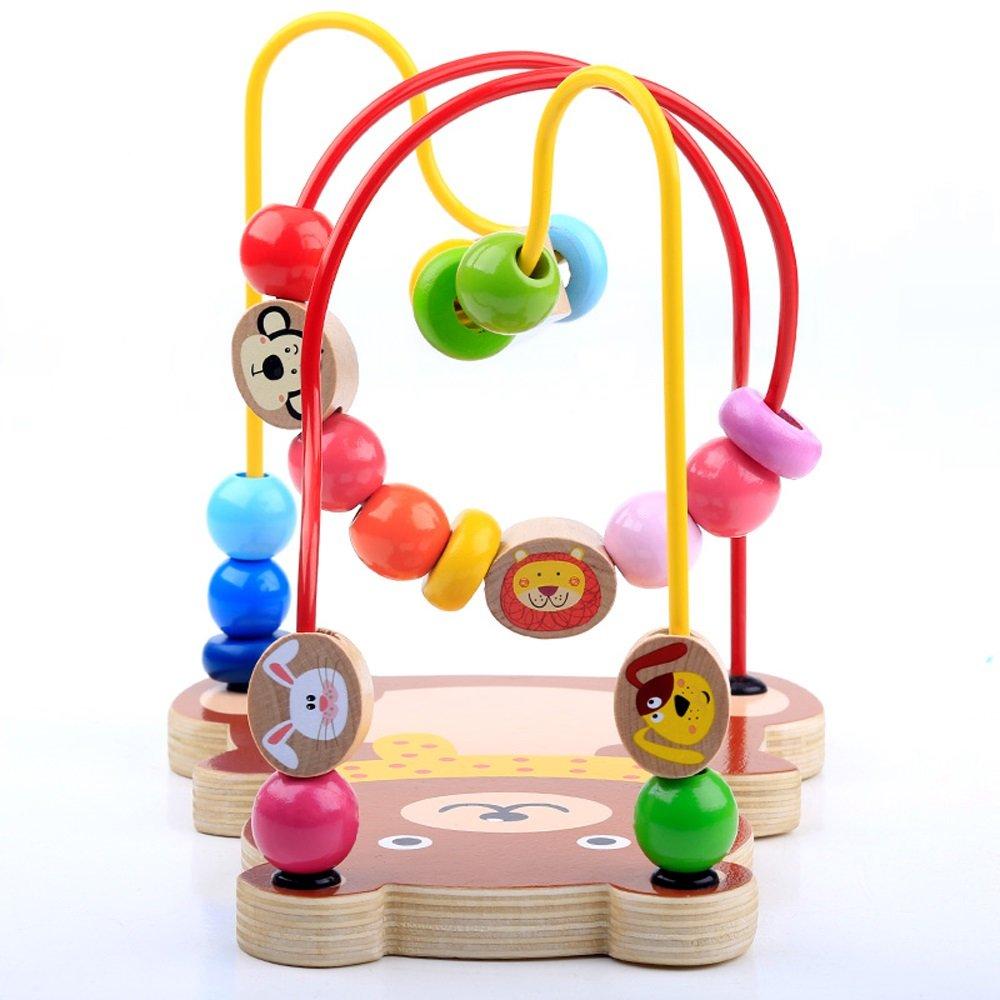 Hölzerne Aktivität Cube, Baby Bead Maze Spielzeug Multi-Funktions-Spielzeug Kinder Geschenk - Bead Maze Toy