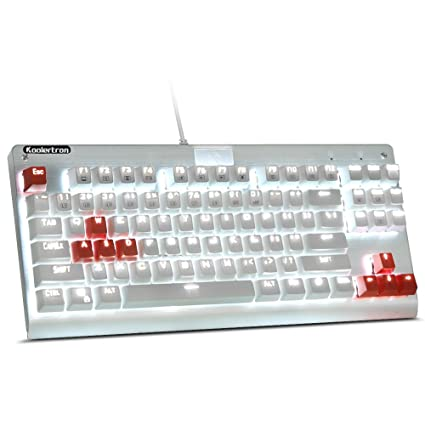 dcb8676f1d5 Amazon.in: Buy White Backlit Chroma Dimmable Tenkeyless Mechanical Gaming  Keyboard 87 Keys Anti-Ghosting MX Blue Switches Online at Low Prices in  India ...