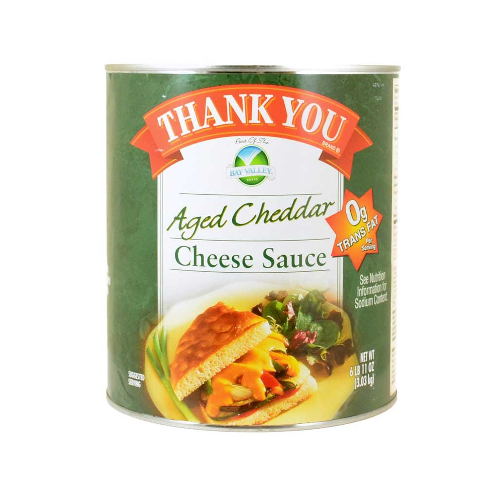 Sauce Thank You Aged Cheddar Cheese Sauce, no.10 Can -- 6 per Case