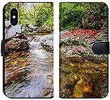 Apple iPhone XS Flip Fabric Wallet Case Image ID: 28790457 Huihang Ancient Trail Hiking Tour Image Using Slow Shutter Speed wat