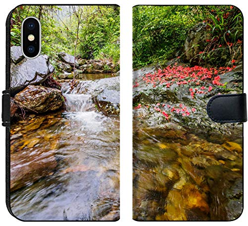 Apple iPhone XS Flip Fabric Wallet Case Image ID: 28790457 Huihang Ancient Trail Hiking Tour Image Using Slow Shutter Speed wat by MSD