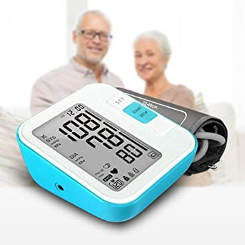 Tensiómetro de muñeca digital con detección de frecuencia cardíaca Salud regalo sangre Impresión Portable Intelligent Voice sphygmo Manómetro pantalla LCD ...
