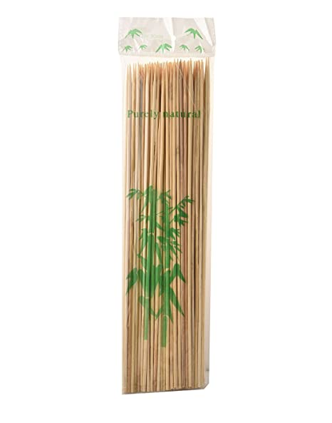 Prakritii Cultivating Green Bamboo Roasting Skewers/Kebab Sticks 12 Inches (Pack Of 100)