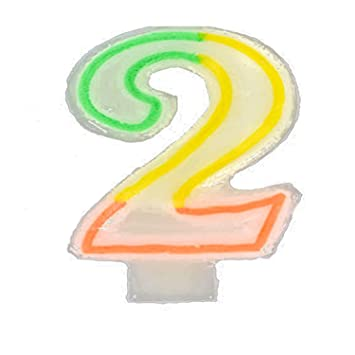 Amazon Number 2 Birthday Candle 1 Unit Sports Outdoors