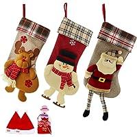 SueH Design Medias de Navidad 3 Pack 48cm