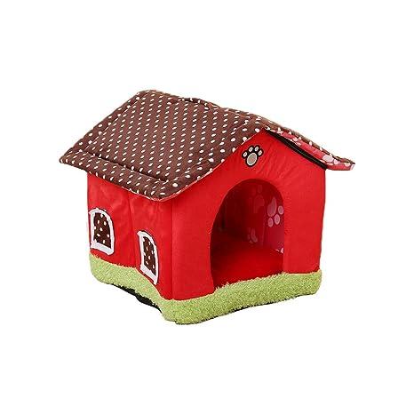 Aurantiaco Lovely Cama para Perro o Gato Lavable Mascota Nido Dulce casa Interior con cojín extraíble