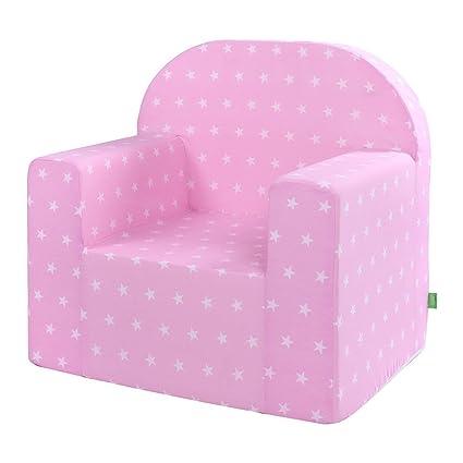 lulando m00008500 Classic Baby, niños sofá Mini Sillón Niños Muebles para parte habitaciones y habitación de los Niños, Stars, color rosa