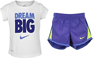 Nike Dry Girls Dream Big Two Piece Short-Sleeve Tee And Shorts Set - Fusion Violet (12M)