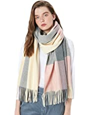 "Winter Cashmere Wool Scarf Pashmina Wrap Shawl Fashion Warm Extra Large 78""x26"" Stole for Women"