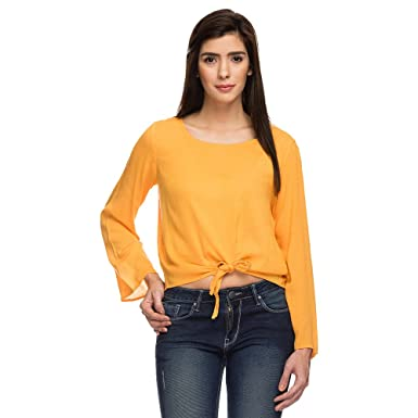 60ff549979896b Image Unavailable. Image not available for. Colour: Life by shoppers Stop Women  Round Neck Solid ...