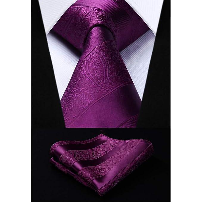 CDBGPZLD Seda Corbata Set Corbata rosa de Paisley de corbata ...