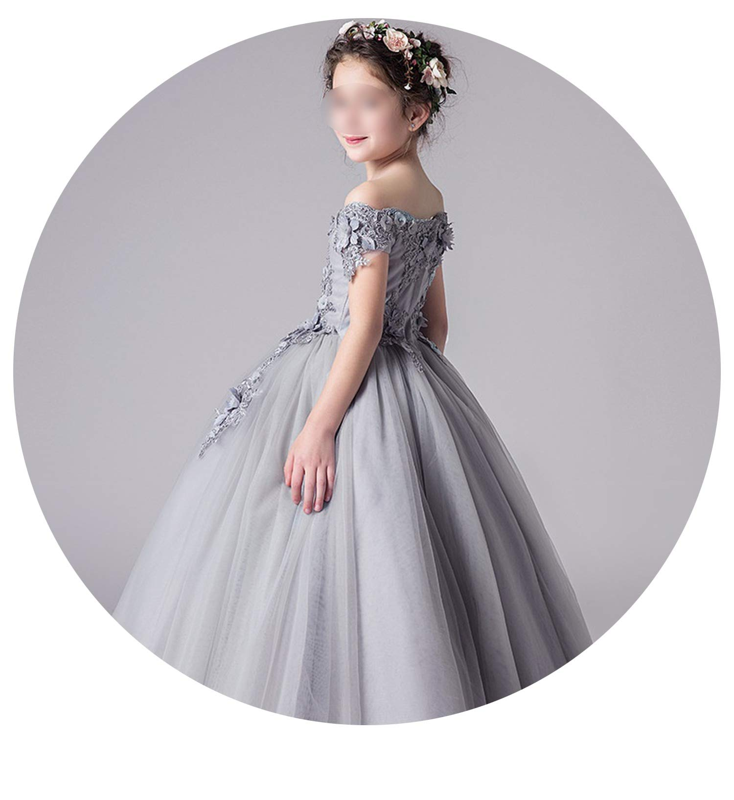 Tulle Lace Infant Pageant for Weddings and Party First Communion Dresses for Girls,as picture4,12