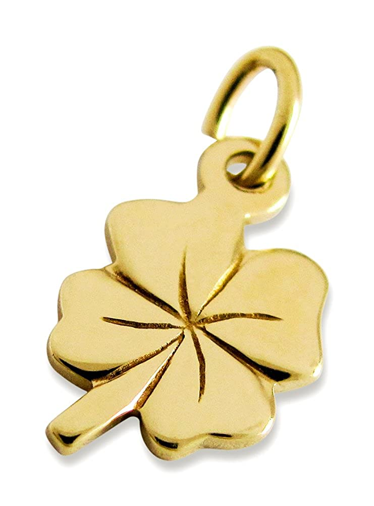 Anhä nger Kleeblatt 585er Gold Gelbgold (12 x 7 mm) niceandnoble 5602-Gold