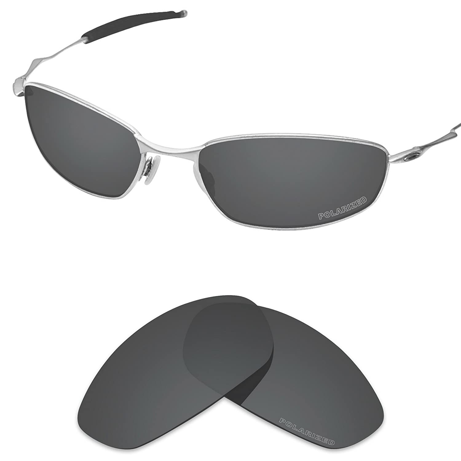e00e07b66a Amazon.com  Tintart Performance Lenses Compatible with Oakley Whisker Polarized  Etched-Carbon Black  Clothing