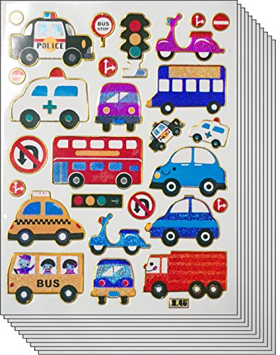 Jazzstick 210 Cute & Fun Cars Bus Ambulance Truck Stickers f