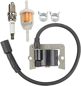 Allong 12 584 04-S 12 584 01-S Ignition Coil + Fuel Filter Spark Plug for Kohler 12 584 01 CH11 CH12.5 CH13 CH14 CH15 CH20 CH22 CH23 CH25 CH26 CH410 CH430 CH450 CH680 CH730 CH740 CH750 CV20