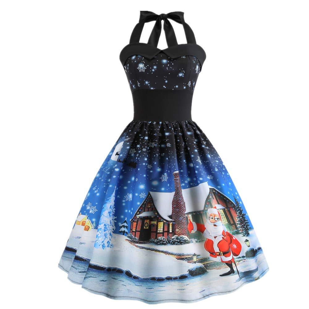 UNBRUVO Dress for Women Christmas Sleeveless Evening Party Dresses christmasdressL80910496
