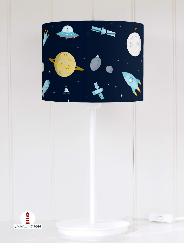Lampenschirm f/ür Tischlampe Kinderzimmer M/ädchen Blumen in hellem Beige aus Baumwolle alle Farben m/öglich