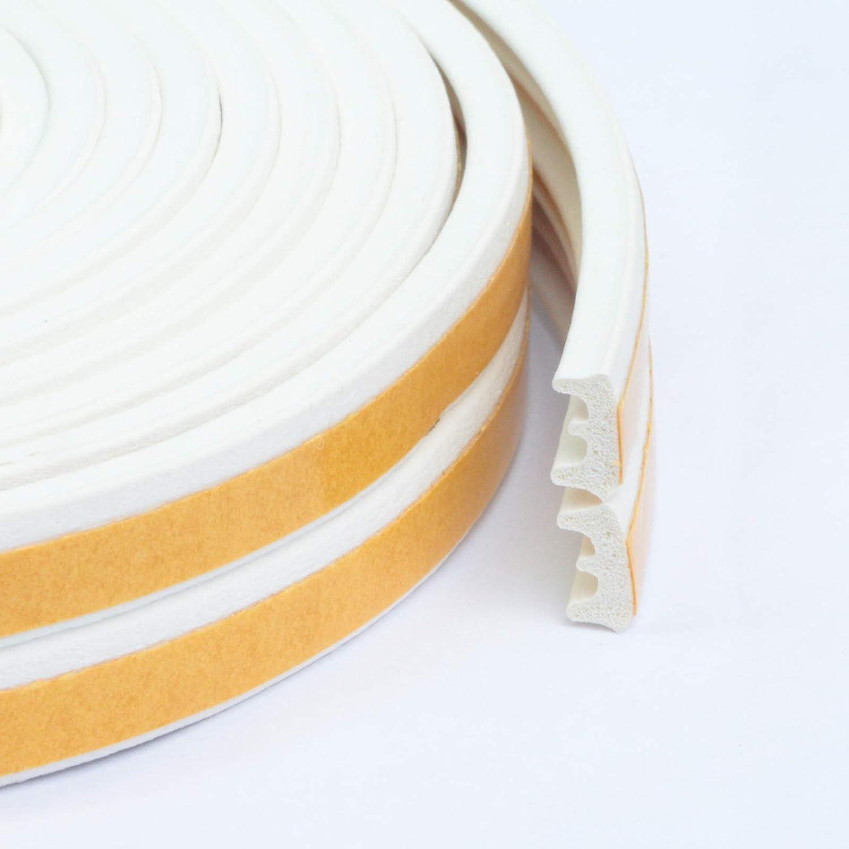 FENSTERDICHTUNG selbstklebend Dichtband T/ürdichtung Gummidichtung Fensterdichtband T/ür Fenster 50 m, P - Profil, Braun