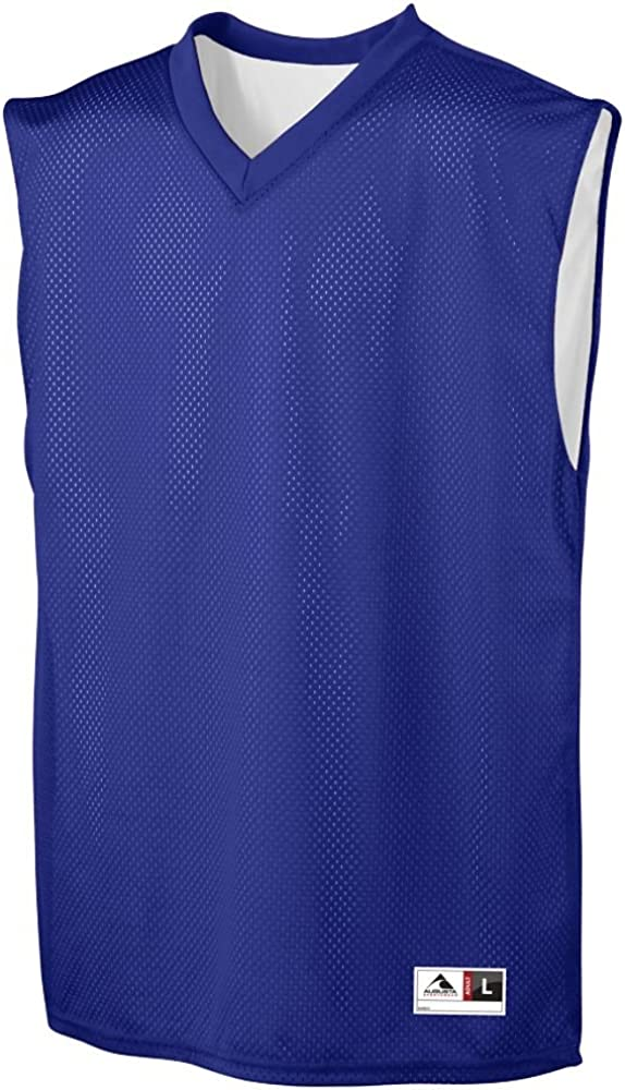 YOUTH Tricot Mesh//Dazzle Reversible Jersey-PURPLE and White