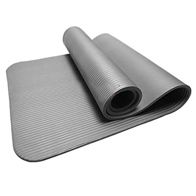10MM Thick Durable Yoga Mat Non-Slip Exercise Fitness Pad Mat Lose Weight GY Gray: Clothing