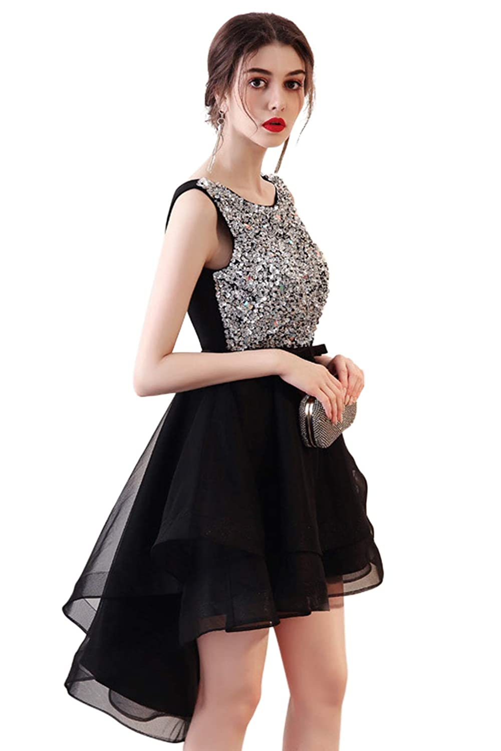 5178d35cf Beautiful Elegant Round Collar Designs,Hand-made Stitched Sequins,Hollow  Out The Back,Soft Mesh With Shining Sequins And Rhinestones,Empire Waist  Designs ...