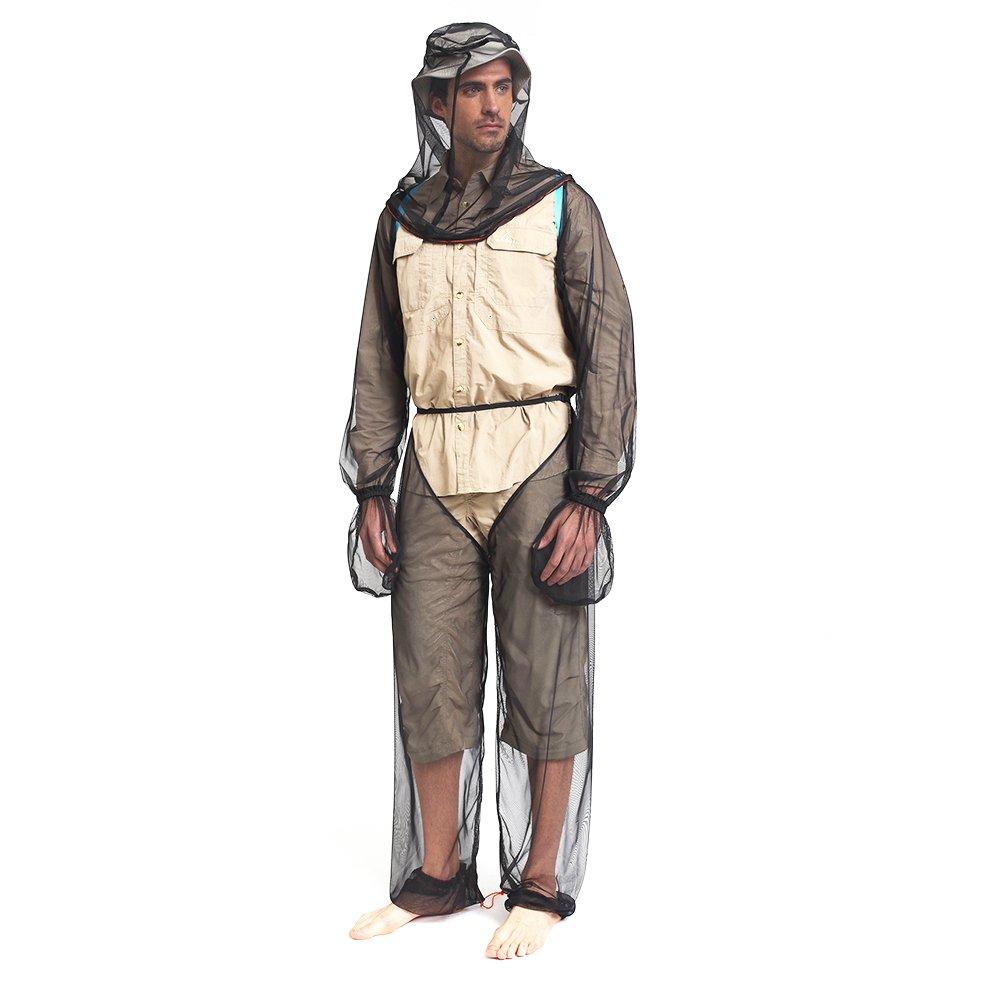 Lixada Anti-mosquitoes Suit,Lightweight Bug Mosquito Suit Wear Ultra-fine Mesh for Men Women Hiking Fishing Camping Bee feeding Cycling