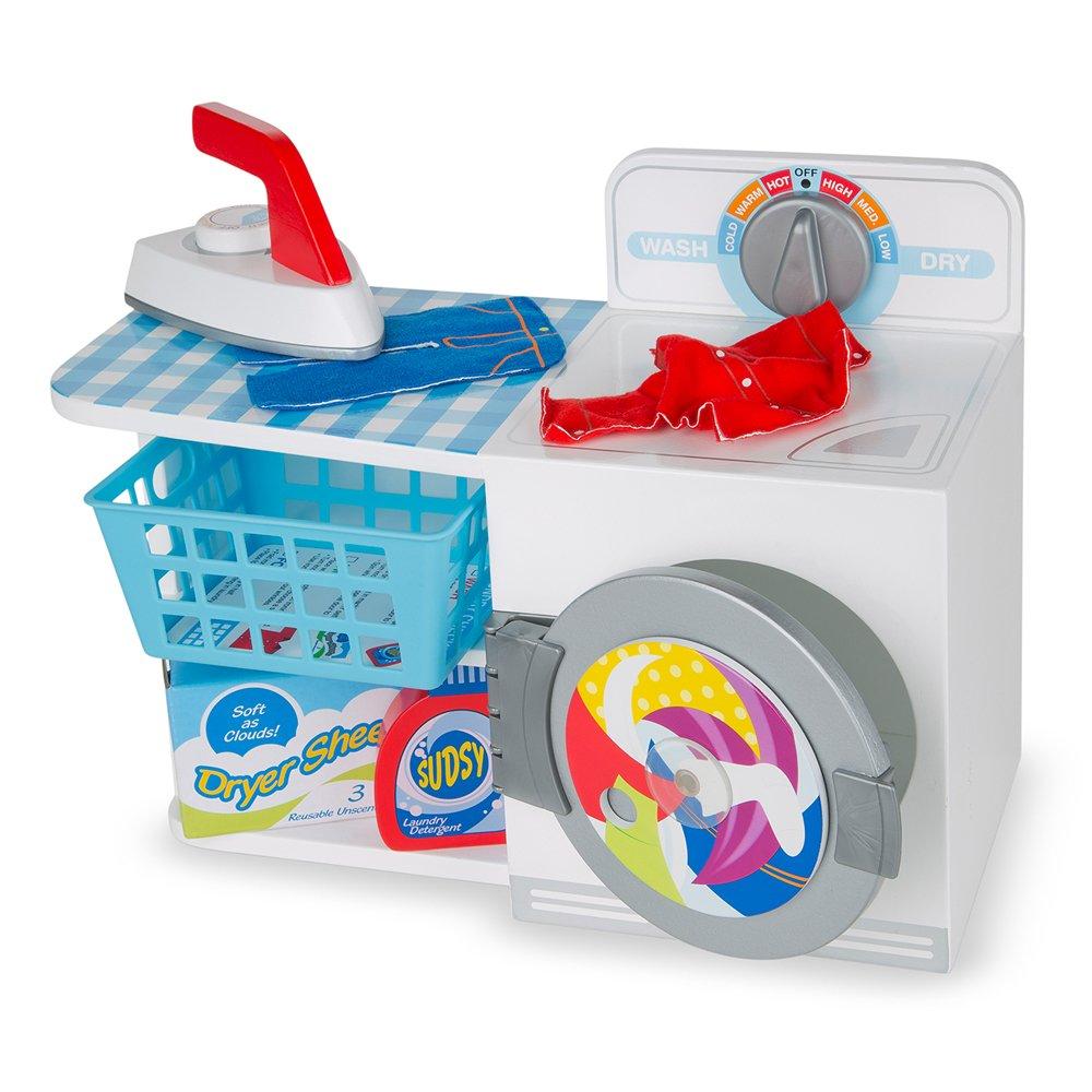 Amazon.com: Melissa & Doug Wash, Dry and Iron Play Set - Pretend ...