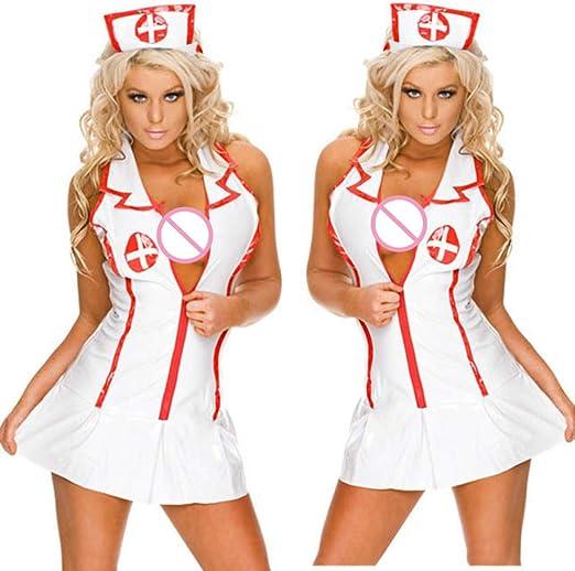 HBINGBING Mujeres Lencería Sexy Enfermera Disfraces de Cosplay ...