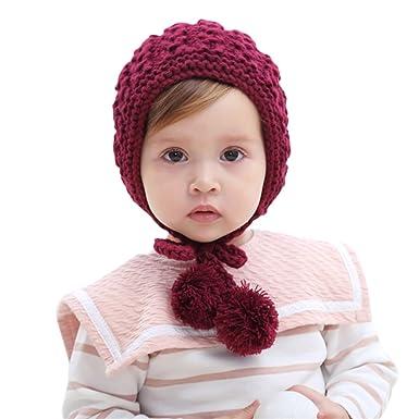 MIOIM recién nacidos Bebé gorros cap Hecho a mano Lana Oído de sombreros Gorros Para otoño Invierno