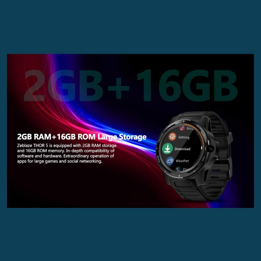 Amazon.com: Android Smart Watch, Dual Systems Zeblaze Thor 5 ...