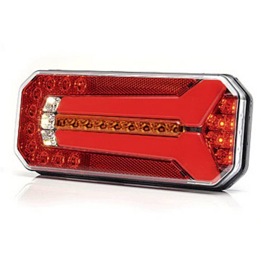 dx + sx Luci posteriori con LED luce di stop e cristallo trasparente di direzione