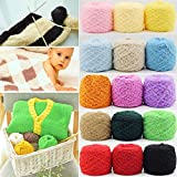 Fincos 100g 26 Colors Thickened Three-ply Soft Coral Fleece Knitting Wool Yarn Scarf Hat Sweater Yarn Ball - (Color: White)