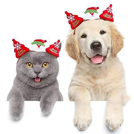 Perro gato mascota Tocado de navidad para mascotas Disfraz ...