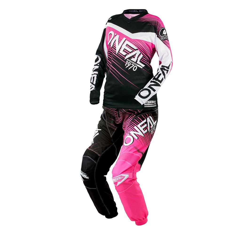 O'Neal - (Youth) Element Racewear Pink & Black Jersey/Pant Combo - Size Y-MEDIUM/24W