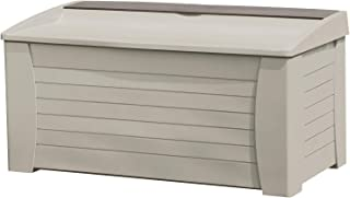 product image for Suncast 127 Gallon Outdoor Resin Deck Storage Box, Taupe