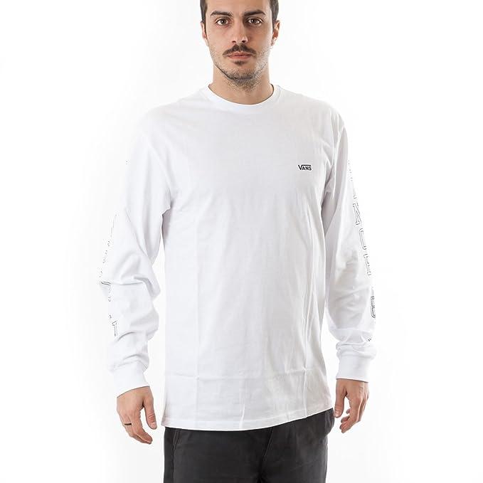 Vans Otw LS, Camisa Manga Larga para Hombre, Blanco (White Wht) X ...