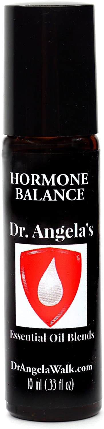 Dr. Angela Walk Hormone Balance Essential Oil Blend | Therapeutic Grade | Hot Flashes and Menopause Relief Roll-On Bottle 10 ml (.33 fl oz)
