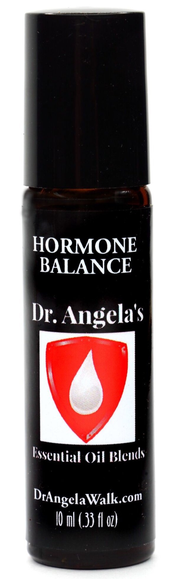 Dr. Angela's Hormone Balance Essential Oil Blend | Therapeutic Grade | Hot Flashes and Menopause Relief Roll-On Bottle 10 ml (.33 fl oz)