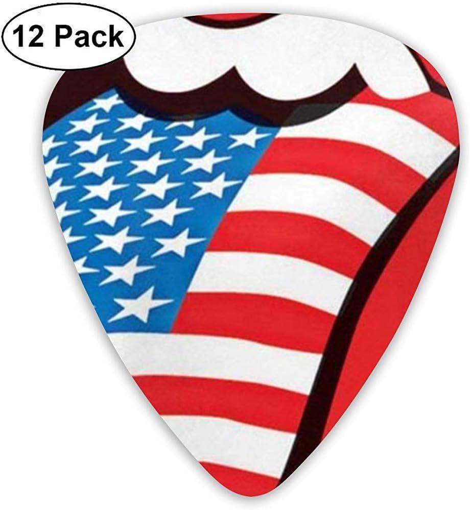 Rolling Stones USA Lips Classic Guitar Picks (paquete de 12) para ...