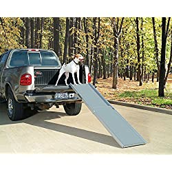 PetSafe Solvit Deluxe Extra-Long Telescoping Pet Ramp, Longer Length Dog Ramp for Steep Inclines